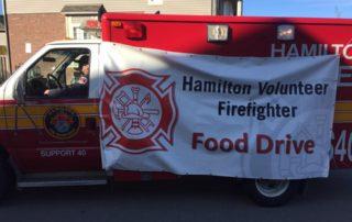 Hamilton Volunteer Firefighter Food Drive Turktra Lumber Dundas Community